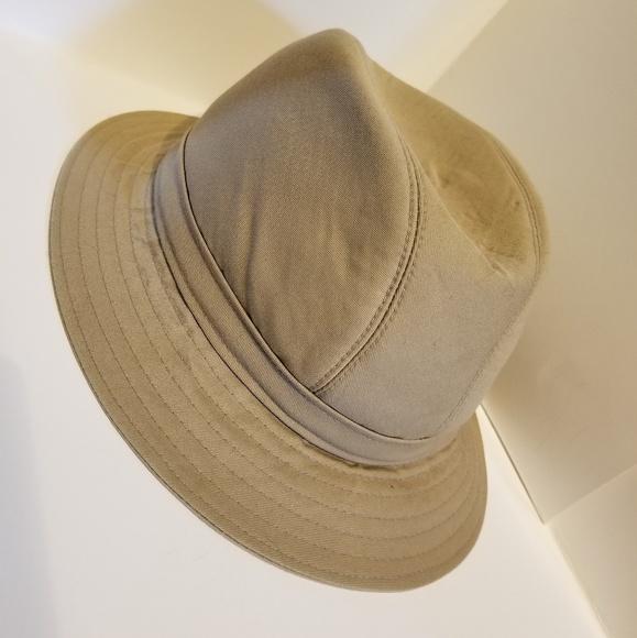 e93ae5f6b Vintage Burberry Hat 7 3/8 Medium Khaki Fedora